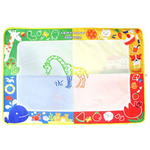 CP2307 - 1 Baby Colorful Cartoon Animal Magic Water Canvas Toy - multicolor