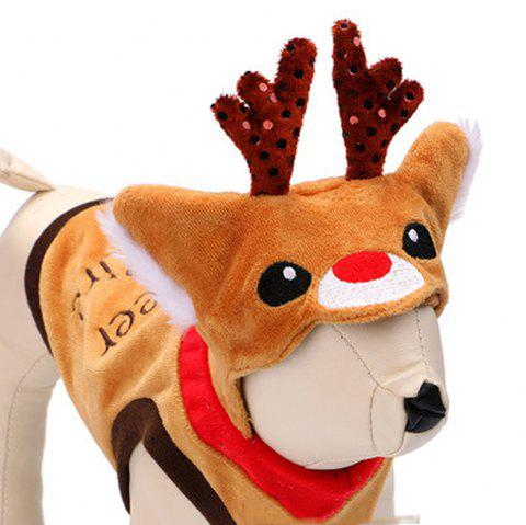 Fashion Dog Clothes Pet Supply Elk Dress Halloween Christmas - multicolor A S