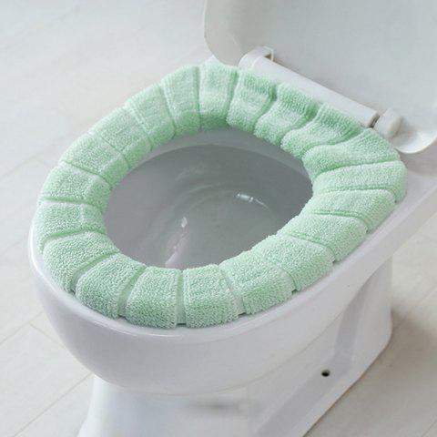 Thicken Knit Universal O Type Toilet Seat Cover - Vert