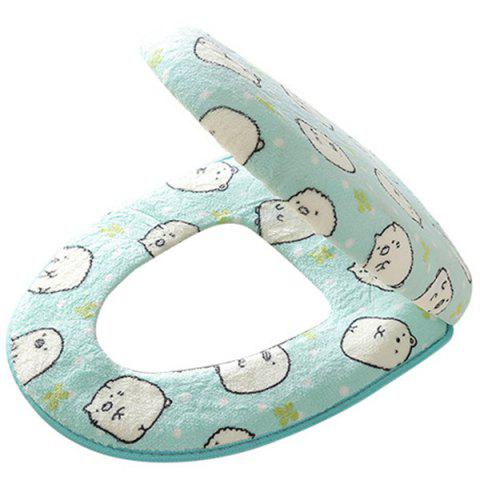 Thicken Cartoon Universal Twinset Toilet Seat Cover - SKY BLUE