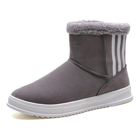 Winter Snow Boots Men Brushed Shoes - GRAY EU 42