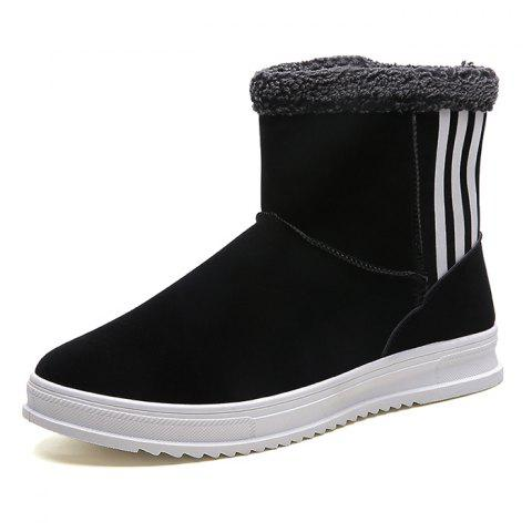 Winter Snow Boots Men Brushed Shoes - BLACK EU 40