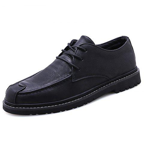 G1005 Men's Oxford Shoes Trendy and Personality - BLACK EU 43