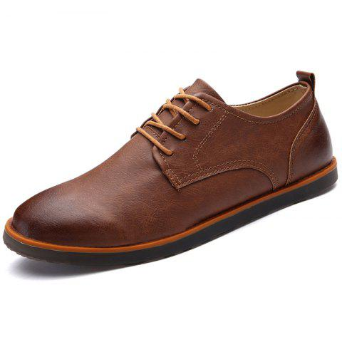 Men's Flat Shoes Fashion Casual Comfortable - BROWN EU 42