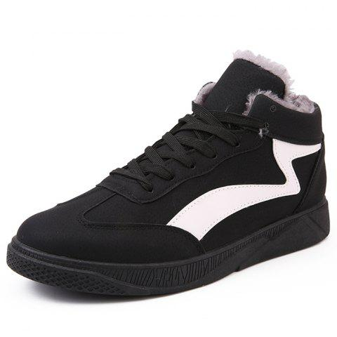 2689a79eb3 2019 Man Sports Shoes Sneakers Lace Up Warm In BLACK EU 42 ...