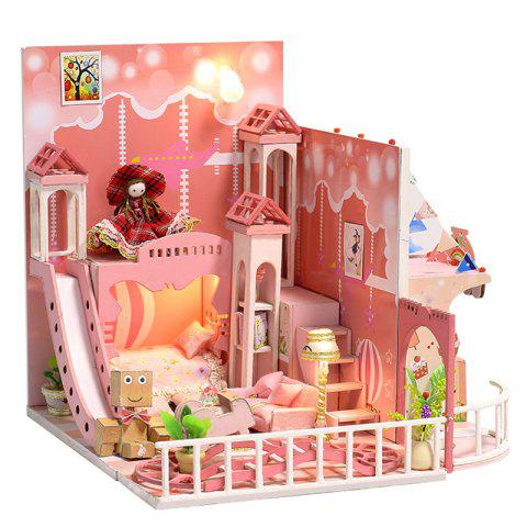 K - 029 DIY Cottage Dream Childhood Assembled Model Villa Creative Birthday Gift Doll House - multicolor