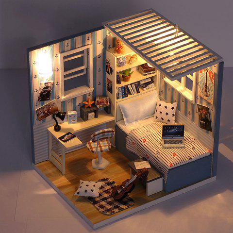 M - 008 DIY Cabin Birthday Gift Puzzle Hand-assembled Architectural Model Doll House - multicolor