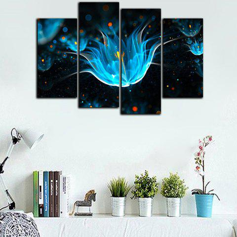 God Painting Flower Modern Print for Living Room Decoration - LIGHT SEA GREEN