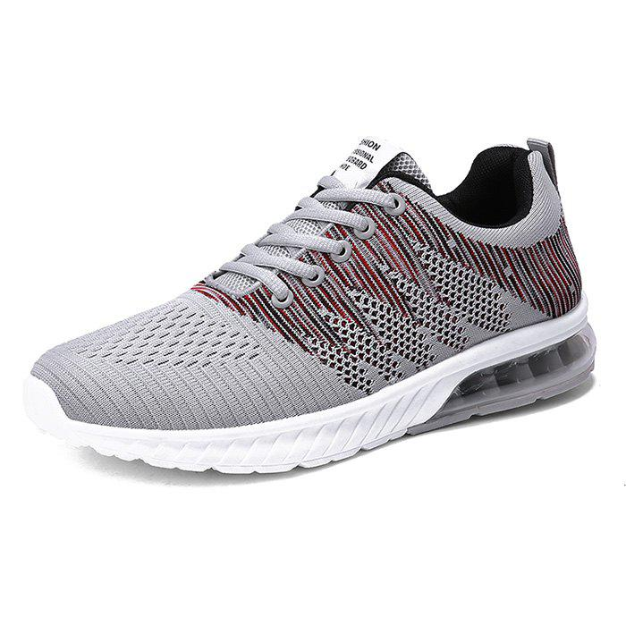 Fashion Breathable Shock-absorbing Sneakers - GRAY EU 43
