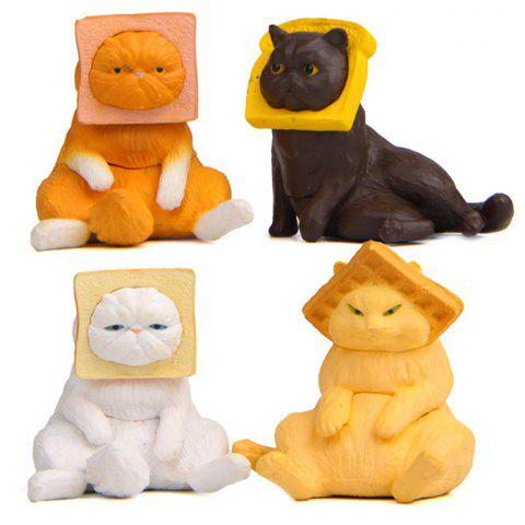 Cute Japanese Cat Shape PVC Doll 4pcs