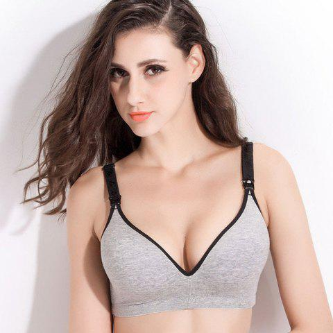 Gather Together Prevent Sagging Bra - GRAY GOOSE 80B