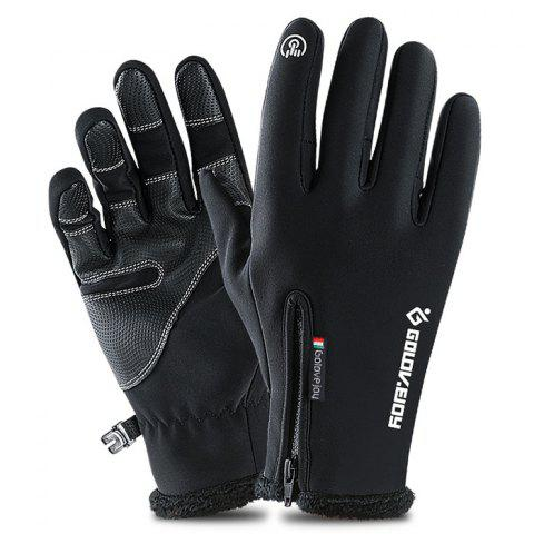 Outdoor Climbing Riding Screen Touching Gloves for Winter Use 2pcs - BLACK L