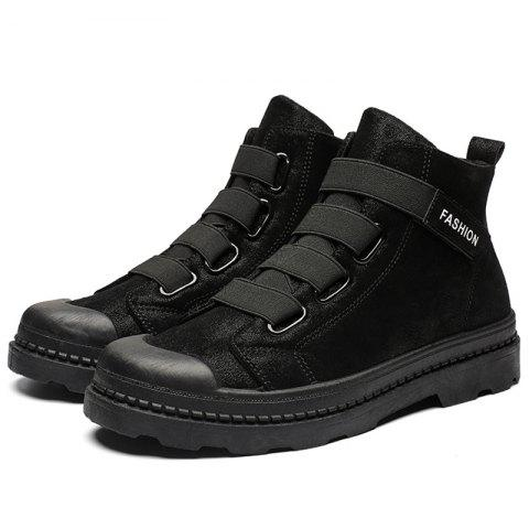 Men's Martin Boots Fashion High Top Casual - BLACK EU 43