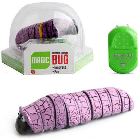9910A Worm Infrared Remote Control Reptile Insect Caterpillar Electric Toy - Mauve