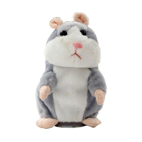 Electric Talking Recording Hamster Doll Plush Toy - BLUE GRAY