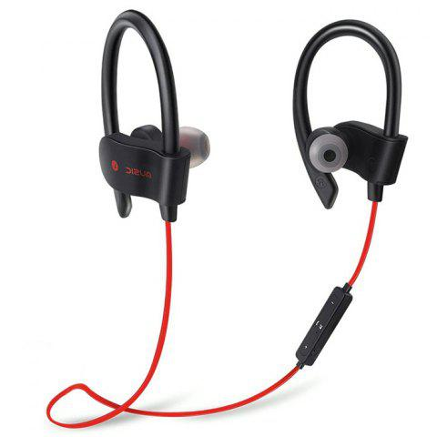 L4 Super-aural Bluetooth Earphone Wireless Earbuds for Sports with Mic - LAVA RED