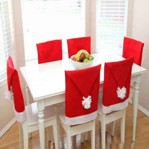 Christmas Ornaments Chair Cover 6pcs - RED