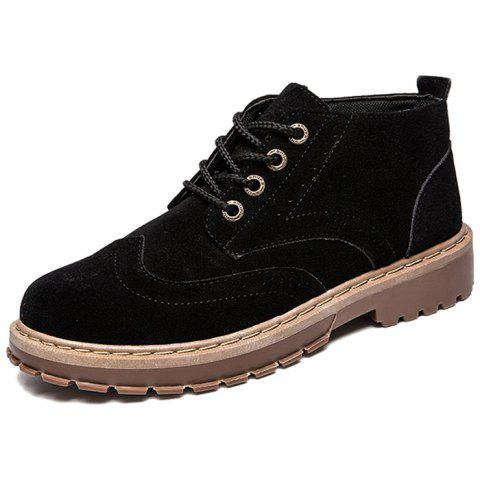 Men's Oxford Outsole Boots Fashion Wearable - BLACK EU 44
