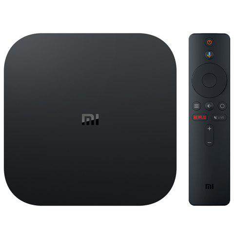 Xiaomi Mi Box S with 4K HDR Android TV Streaming Media Player and Google Assistant Remote Cortex-A53 Quad Core 64 bit Mali-450 Android 8.1 2GB RAM 8GB ROM HDMI2.0 2.4G + 5.8G WiFi BT4.2 - BLACK EU PLUG