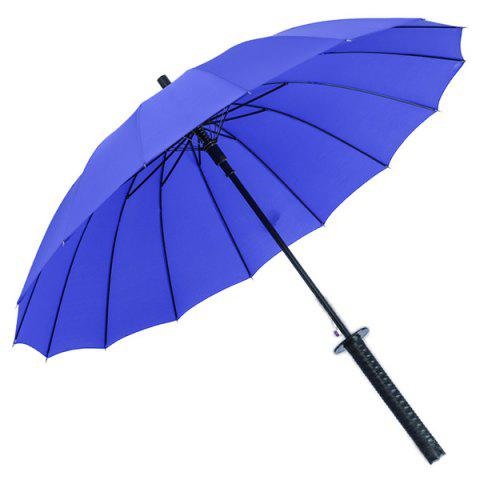 Creative Long Handle Oversized Semi-automatic Sun Rain UV Protection Dual-use Umbrella - OCEAN BLUE