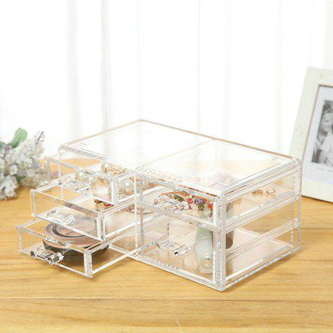 Multi-layer Drawer Transparent Cosmetic Storage Box - TRANSPARENT