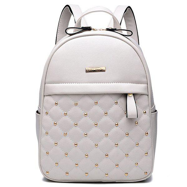 Fashionable Leisure Korean Style Backpack for Lady - WHITE