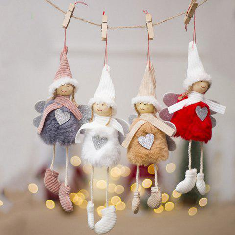 Christmas Tree Beautifully Decorated Pendant Small Angel Ornaments - WHITE
