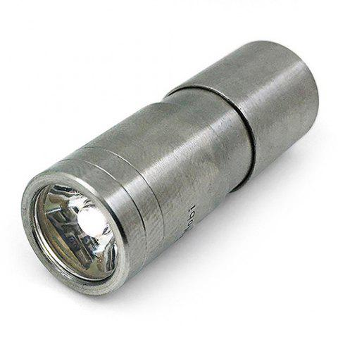 CREE XPG2 120LM Mini Stainless Steel Three Modes Rechargeable Flashlight - SILVER WARM WHITE