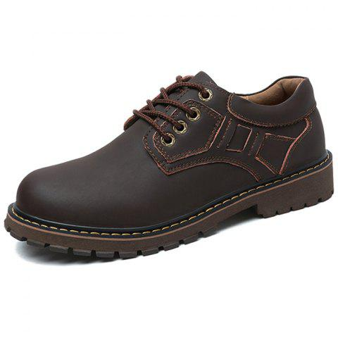 Men's Oxford Shoes Retro Classic - BROWN EU 40
