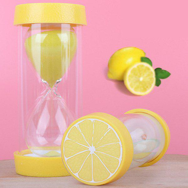 Creative Children Anti-fall Hourglass Toys Fruit Shape Timer Ornaments 1pc - YELLOW