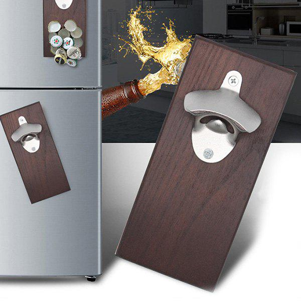 Retro Wall-mounted Magnetic Refrigerator Paste Zinc Alloy Beer Bottle Opener - SEPIA