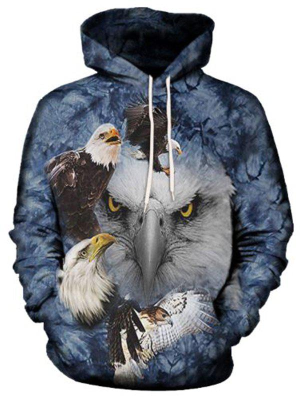 3D Fashion Eagle Hooded Hoodie
