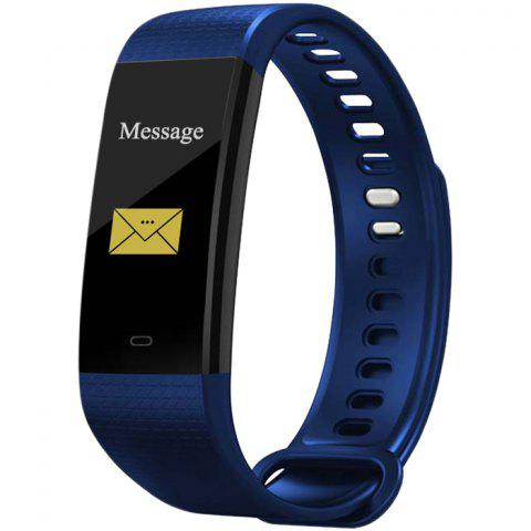 Y5 Smart Bracelet 0.96 inch Screen Bluetooth 4.0 Call / Message Reminder Heart Rate Monitor Functions - BLUE