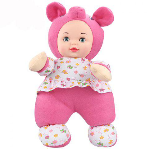 Interactive Sleep Appease Piggy Baby Doll with Music Plush Toy Christmas Gift - PINK