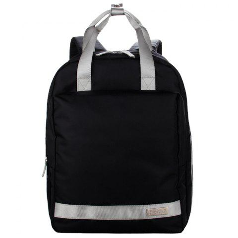 Fashion Multi-function Large Capacity Mother Backpack - BLACK