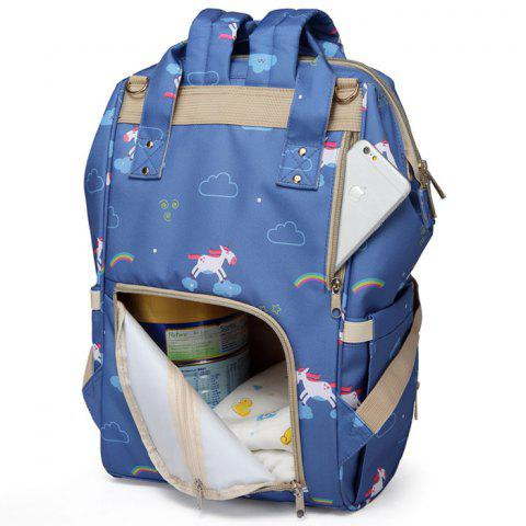 Fashion Multi-function Large Capacity Mother Package Bag - CORNFLOWER BLUE