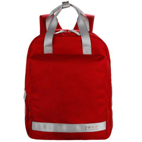 Fashion Multi-function Large Capacity Mother Backpack - CHERRY RED
