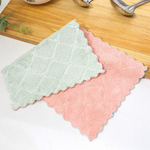 Double-sided Color Lace Absorbent Oil-free Dish Towel Wipes 2pcs - AZURE