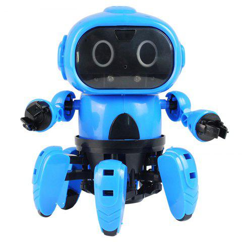 DIY Assembled Electric Robot Infrared Obstacle Avoidance Educational Toy - DODGER BLUE