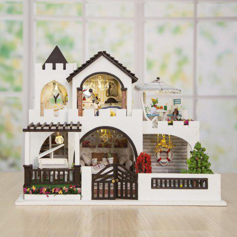 DIY Hand-assembled Dollhouse Dream Castle Model Toy Gift Set - WHITE