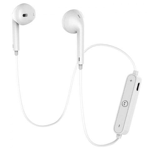 S6 Sports Bluetooth Bilateral Stereo In-ear Earphone Music Earbuds - WHITE