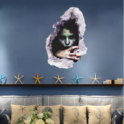 Creative Halloween Character 3D Wall Sticker - multicolor
