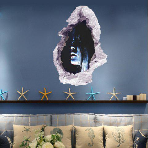 3D Wall Sticker Creative Halloween Horror Character - multicolor