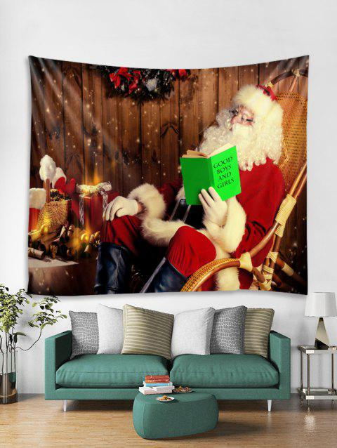 Father Christmas Gift Tapestry Art Decoration - RED W91 X L71 INCH