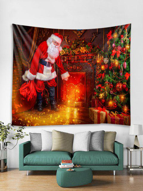 Father Christmas 3D Print Tapestry Art Decoration - LAVA RED W59 X L59 INCH