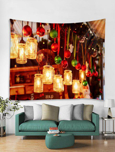 Christmas Light Print Tapestry Art Decoration - GOLDEN BROWN W79 X L59 INCH