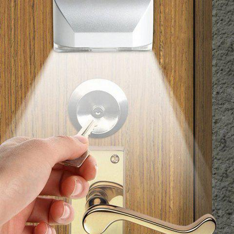 Smart Human Body Induction Unlock Night LED Door Lock Light - WHITE