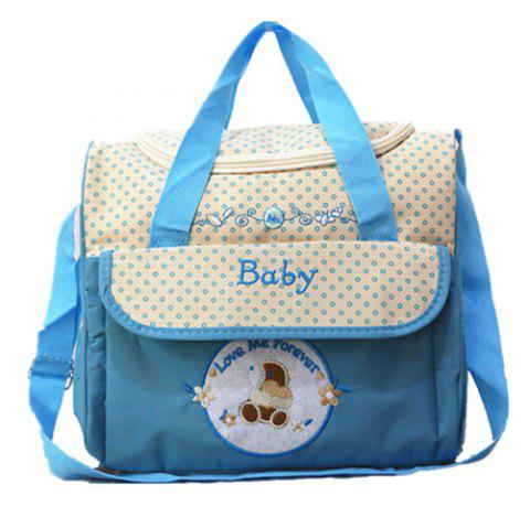 Fashion Mummy Bag Five-piece Set - DEEP SKY BLUE REGULAR