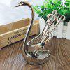Creative Zinc Alloy Swan Spoon Fork Set - SILVER