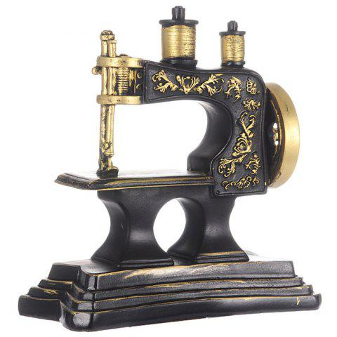 Creative Retro Sewing Machine Piggy Bank Home Ornaments Resin Crafts Toy - GOLD